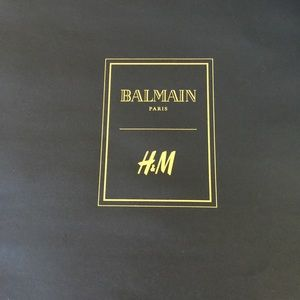 Limited edition Balmain and H&M shopping bag